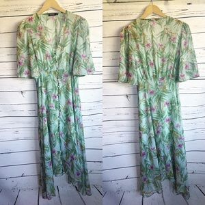 Nasty Gal tropical botanical print floral dress 6